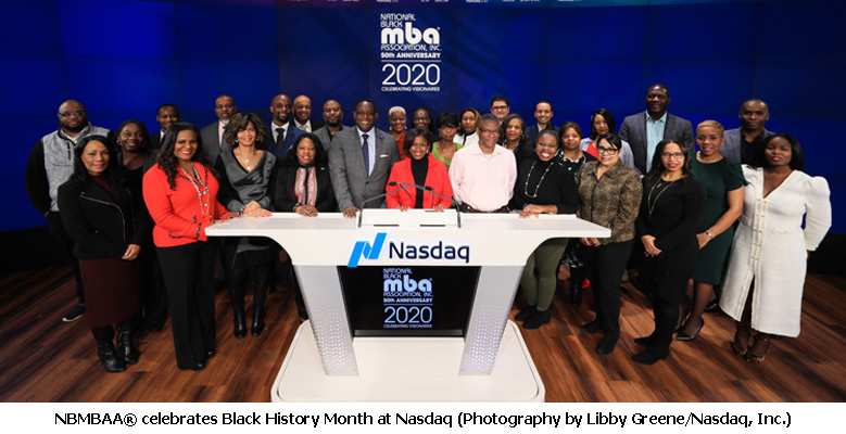 The National Black MBA Association<sup>®</sup> Celebrates Black History Month at Nasdaq