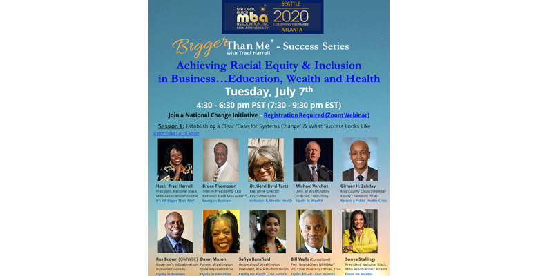 Bigger Than Me, Success Series: Achieving Racial Equity & Inclusion in Business Webinar