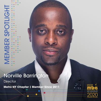 Meet September's Member of the Month – Norville Barrington