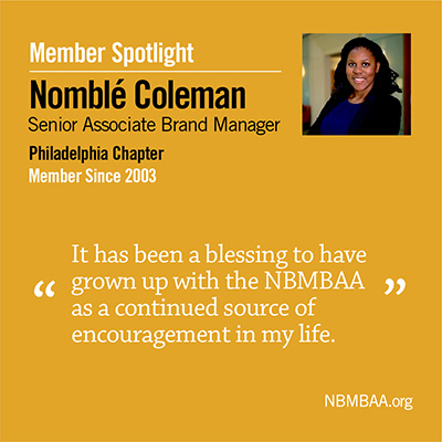 Meet February's Member of the Month – Nomblé Coleman