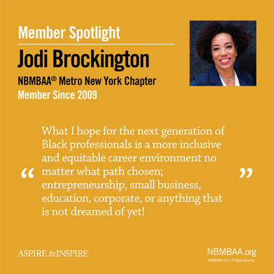 Meet August's Member of the Month – Jodi Brockington