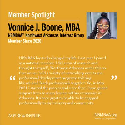 Meet September Member of the Month – Vonnice J. Boone, MBA