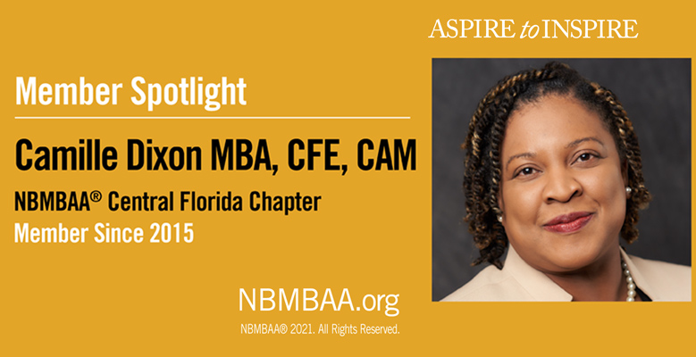 Meet October Member of the Month – Camille Dixon MBA, CFE, CAM